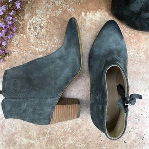 Banana Republic Gray Ankle Boots Suede Wmns Sz 6.5